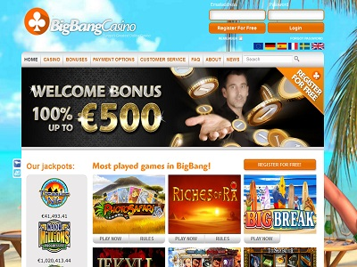 Big bang casino videoslots