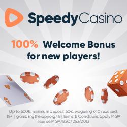 Speedy Casino bonus bij videoslotsonline.org