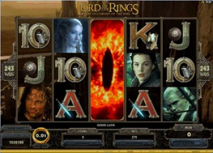 Lord of the Rings video slot