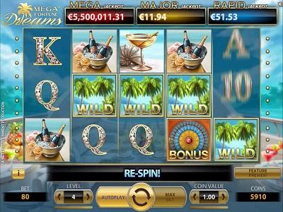 Mega fortune Dreams videoslot spelen